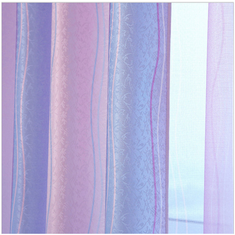 {byetee} High Quality Modern Strip Rainbow Children Baby Curtain for - Home Textile - Photo 3