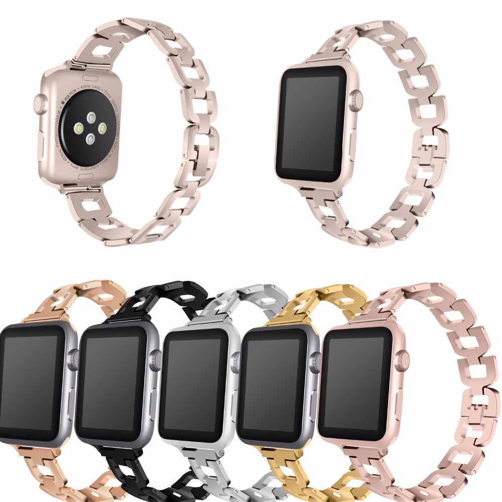 Joyozy Luxury Stainless Steel link bracelet band for apple watch Series 1 2 band iwatch stainless steel strap 42mm with adapters fohuas luxury stainless steel link bracelet band for apple watch series 1 2 band iwatch stainless steel strap 42mm with adapters