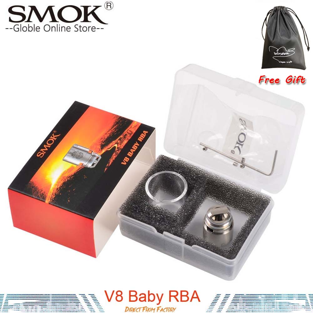 Authentic Smok TFV8 Baby RBA Coil With V8 RBA Exclusive Glass Tube And Sealing Rings For TFV8 Baby Tank DIY Coil For TFV8 Baby original smok tfv8 rba coil rebuildable atomizer head for smok tfv8 tank electronic cigarette tfv8 atomizer rba coil diy vape