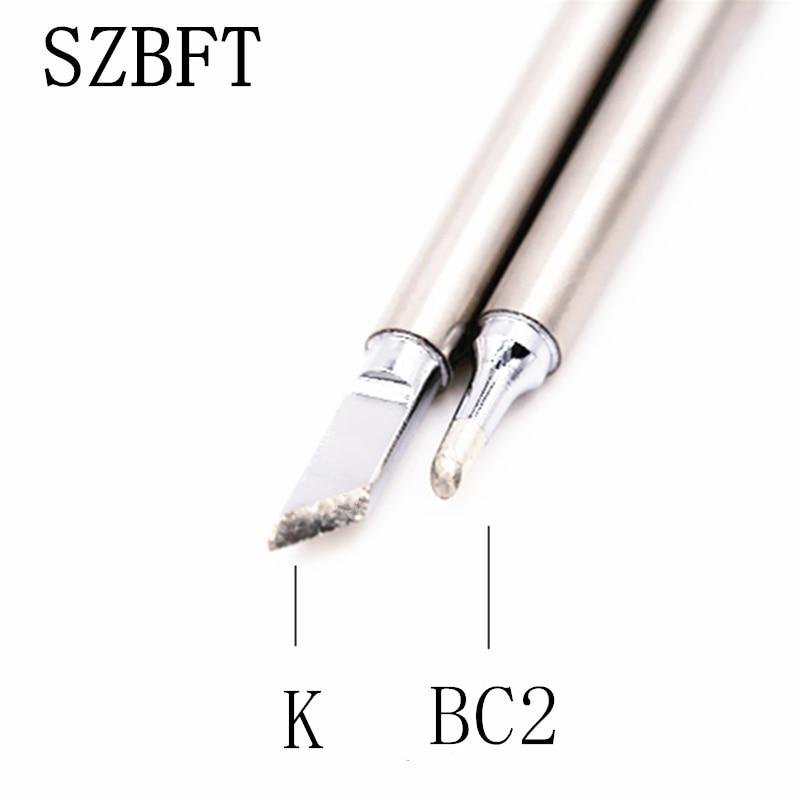 Puntas de hierro de soldadura SZBFT T12-BC2 T12-K para estación de retrabajo de soldadura Hakko FX-951 FX-952