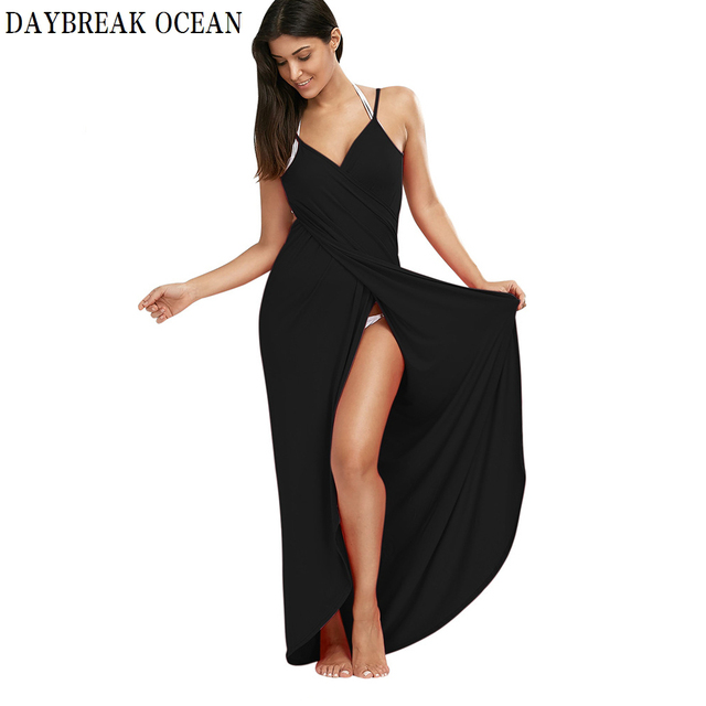 Plus Large Size 5XL Loose Sexy Party Beach Casual Boho Long Maxi Wrap Slip Dress Summer Bodycon Spaghetti Strap Women Dress