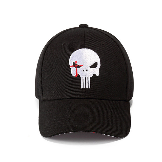 2018 New High Quality Hero US Punisher Skull Logo Embroidere  Baseball Cap Snapback Hats Outdoor Casual & Sport Cap hats 1