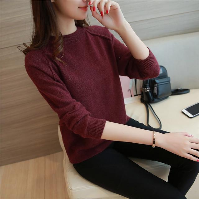 6647-nueva Raglan semi cuello alto suéter de las mujeres 48