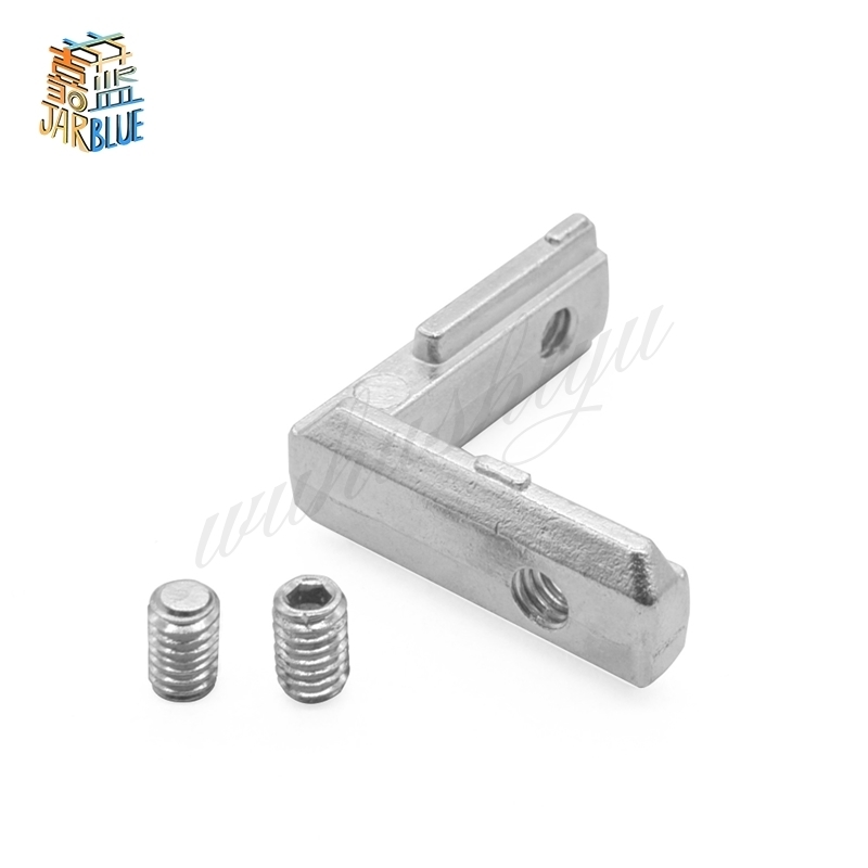 20pcs/lot T Slot L Shape Type 90 Degree 2020 EU Aluminum Profile Accessories Inside Corner Connector Bracket With M4 Screw
