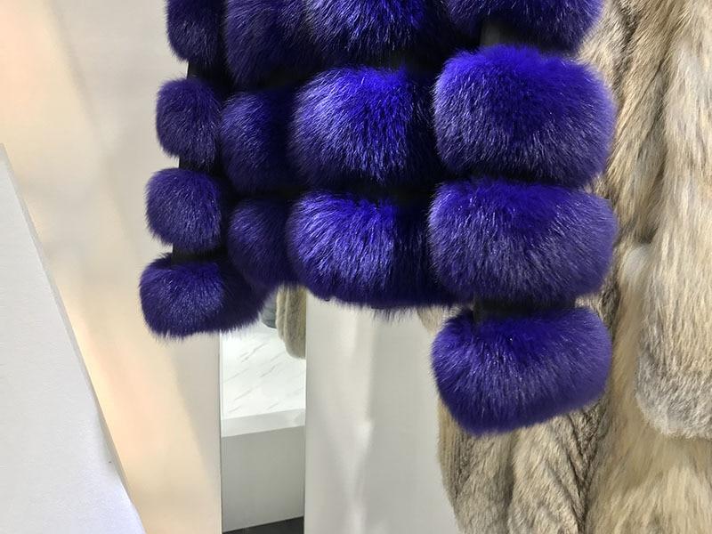 Gros En Chaud 2018 Manteau Marchandises Pourpre Épaississement De Manteau Renard Nouveau Haining Vison Fourrure vvqCwrPx