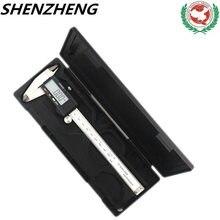 Paquímetro digital, vernier digital paquimetro 150 mm 200 régua eletrônica calibrador medidor de pachômetro ferramenta de medição