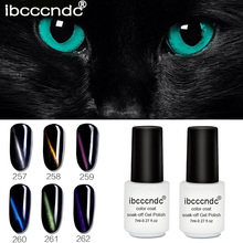 7ml Magic 3D Chameleon Cat Eye Top Coat UV&LED Soak off UV Nail Gel Polish Glue need Magnet Art Design Varnish