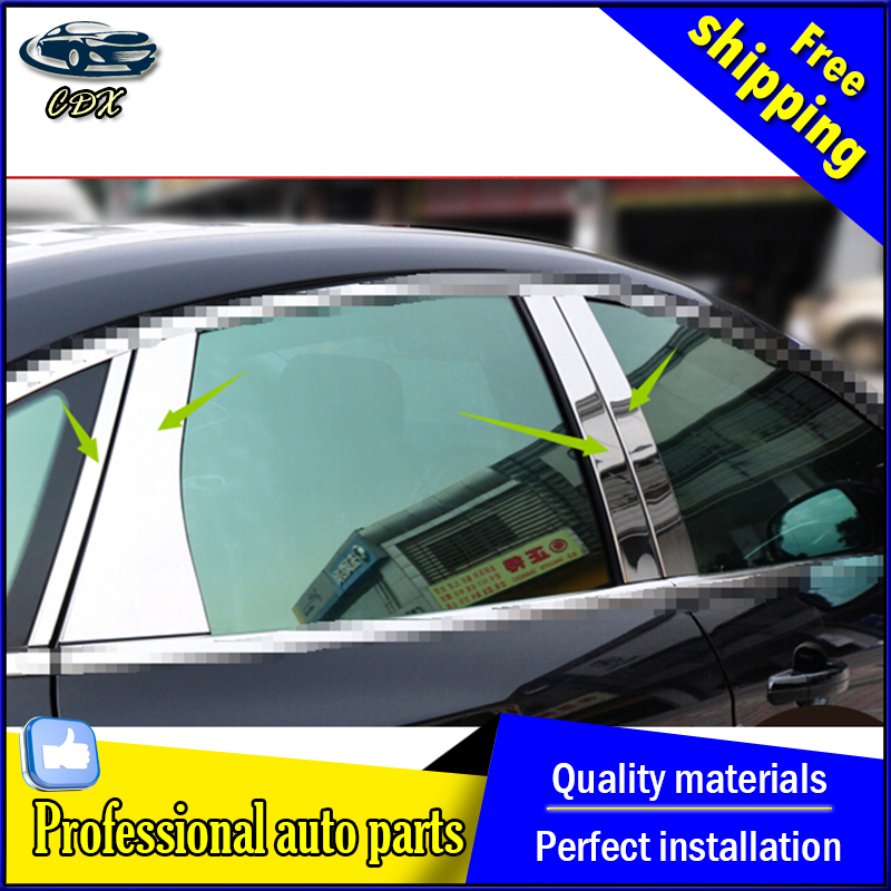 ФОТО car styling For Ford Focus Window stainless steel trim 2012 2015 For Ford Focus windows sticker AKD car styling