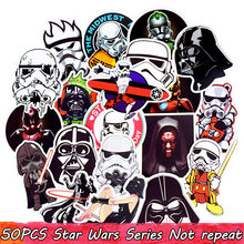50pcs Mixed Star Wars Stickers Graffiti JDM Sticker for Kid DIY Skateboard Laptop Luggage Phone Car Bicycle Waterproof Stickers(China)