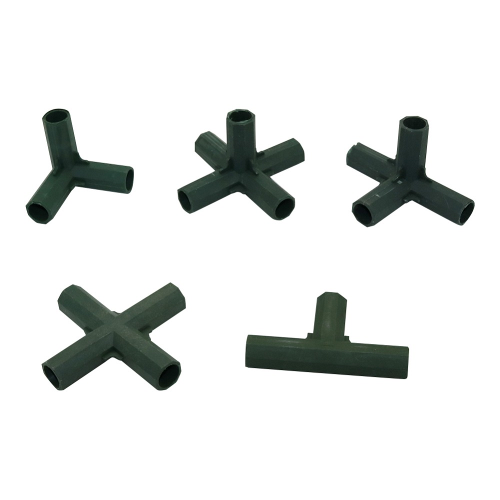 Gardening Flower Support Lawn Stakes Edging Corner Connectors Suitable For 16mm Plant Stakes Agriculture Tools 30 Pcs