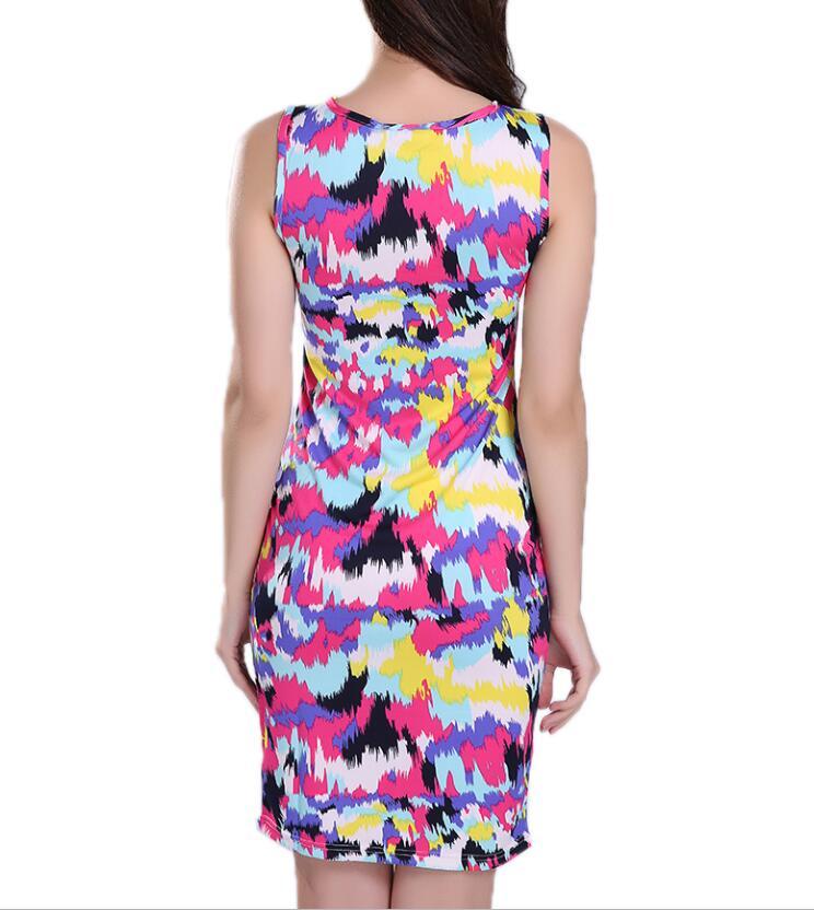 HTB1mM1OcL1G3KVjSZFkq6yK4XXaP Lollars leopard print O-Neck Sleeveless casual sexy Dresses Robe girl Party evening club Dress