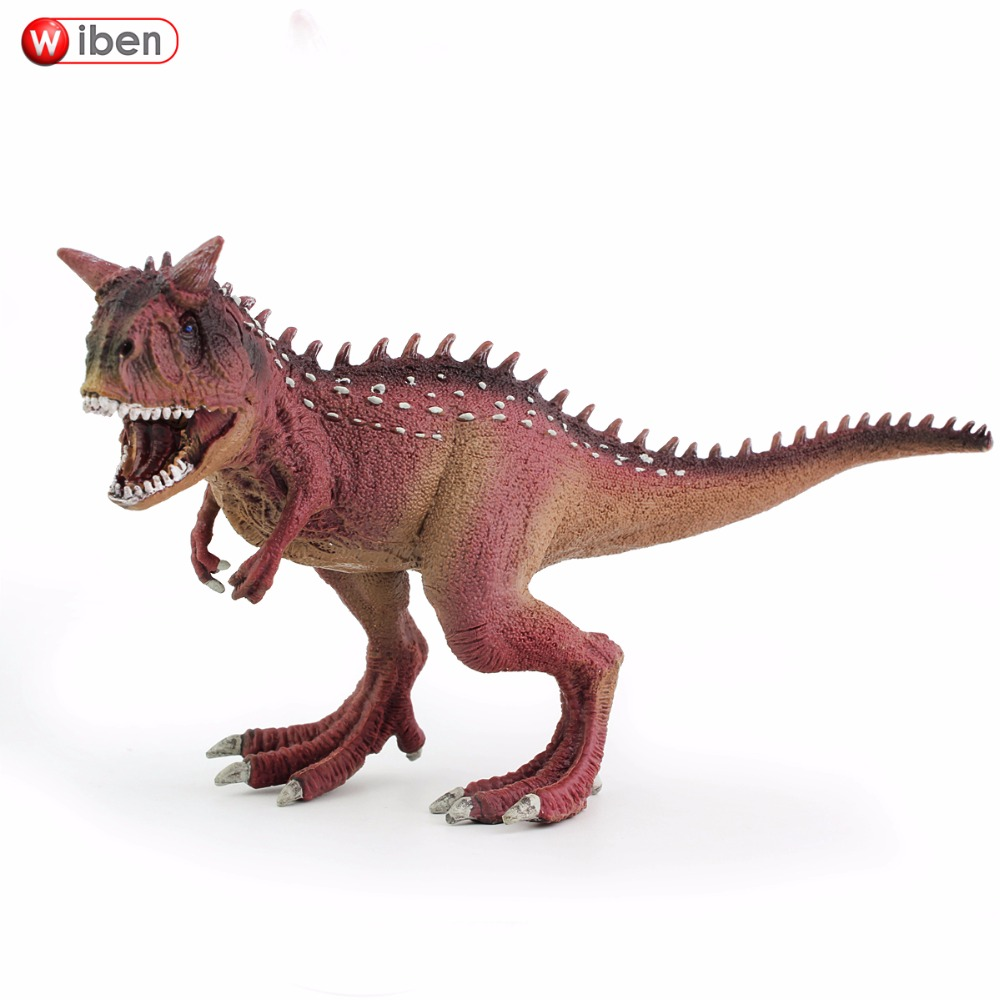 Wiben Jurassic Carnotaurus Action Figure Animal Model Collection Vivid Hand Painted Souvenir Plastic toy Dinosaur Birthday Gift wiben animal hand puppet action