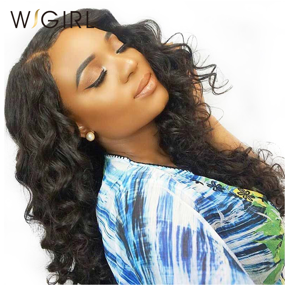 Wigirl Hair Full Lace Wigs Human Hair With Baby Hair Loose Wave Natural Color Brazilian Hair