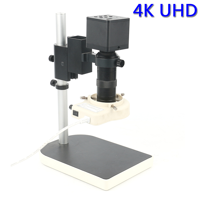 1080P 4K UHD 8MP CMOS Digital Electronic Industrial Video Microscope Camera 100X C mount Lens For Phone PCB Repair Soldering hdmi vga output digital industry microscope 1080p video camera set 100x c mount lens 56 led ring light for phone pcb inspection