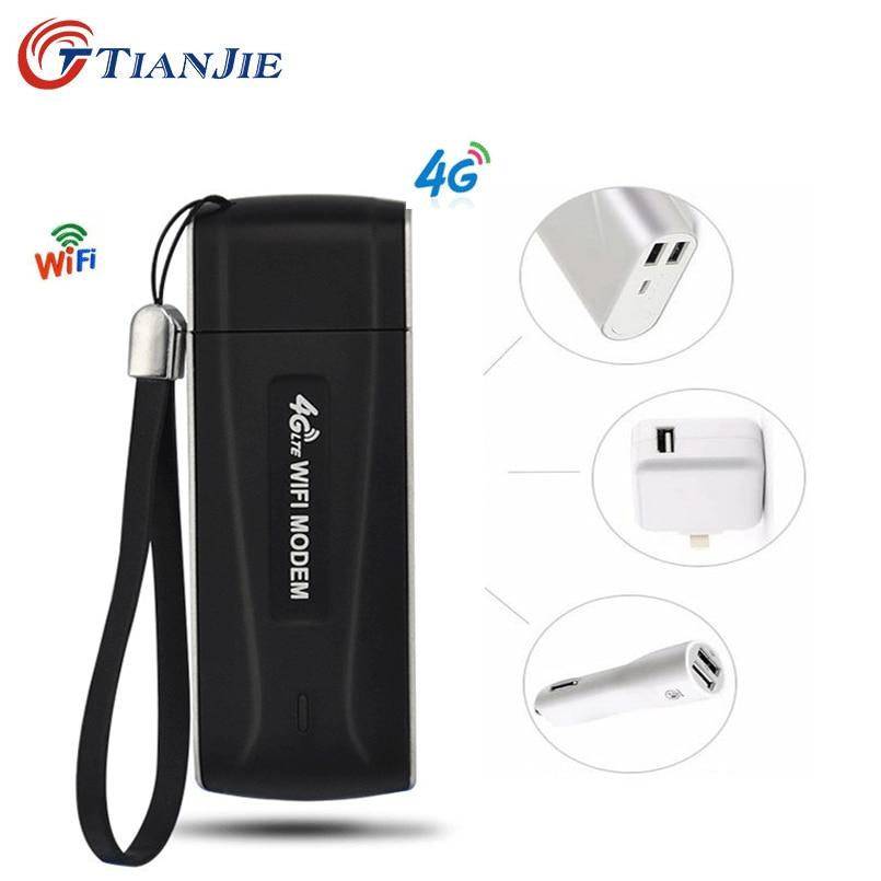 TIANJIE Router Modem Sim-Card-Slot Wifi Hotspot Dongle-Network-Adapter Unlocked 3G/4G