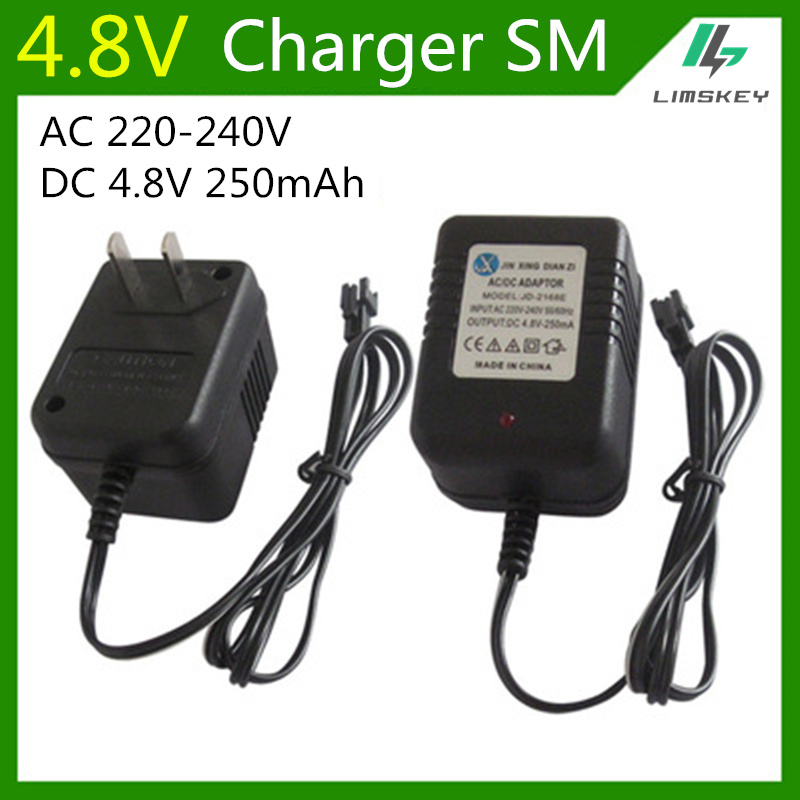 4.8V 250mA battery charger For 4.8 V AA NiCd and NiMH battery charger For RC toy car SM plug AC 220-240V DC 4.8V 250mA обложка neri karra