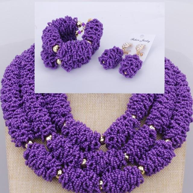 Dudo Jewelry Purple Grape Dubai Jewelry Sets in Nigerian Wedding Sets Luxury Indian Necklace Set For Bride Women Free Shipping
