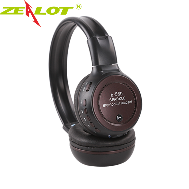 Zealot B560 Bluetooth 4.0 Headphone Earphone Foldable Strong Bass Wireless Stereo Headphones With Mic FM Radio TF Card Slot smart home eu touch switch wireless remote control wall touch switch 3 gang 1 way white crystal glass panel waterproof power
