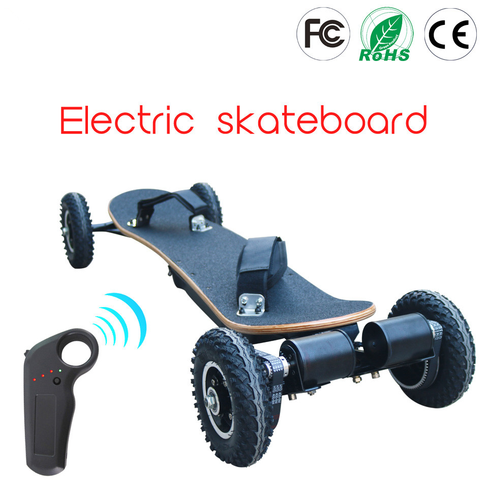 Planche de montagne électrique hors route planche à roulettes 36 V batterie au Lithium 2 couches bambou et 8 couches érables 11000 mAh