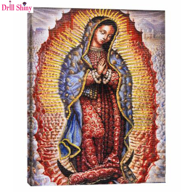 3d Diy Diamond Painting Cross Stitch Kits Our Lady Of Guadalupe