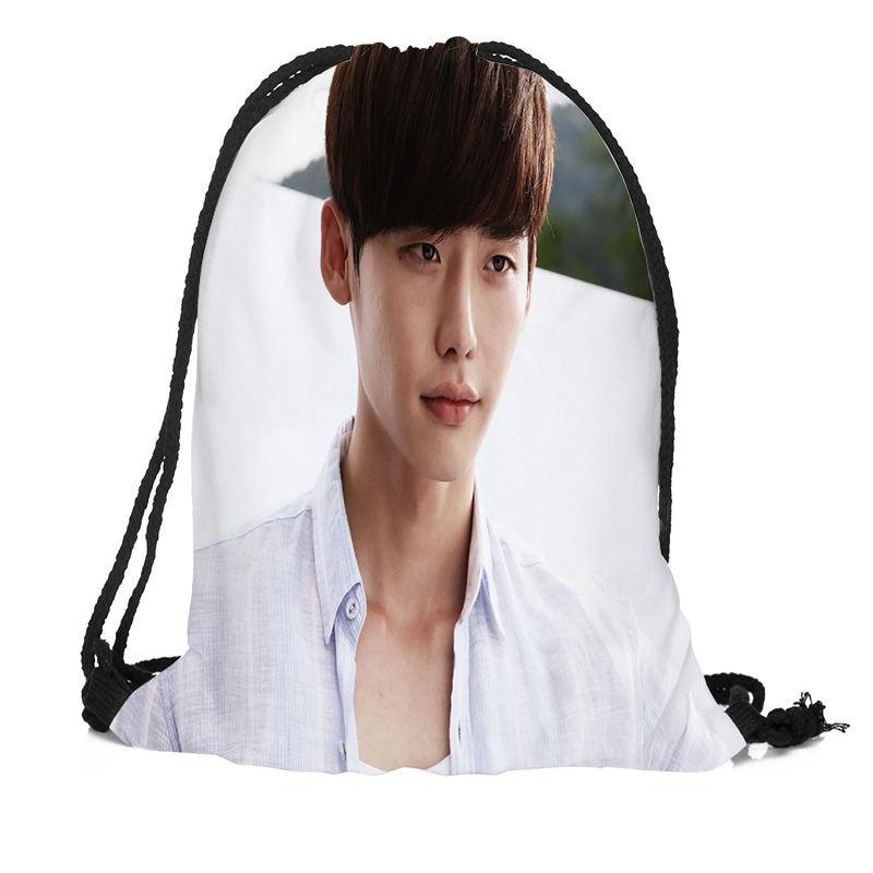 Custom Lee Jong Suk Backpacks Travel Softback Men Women Drawstring Bag School Girls BackpacksCustom Lee Jong Suk Backpacks Travel Softback Men Women Drawstring Bag School Girls Backpacks