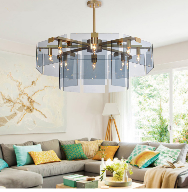Modern Simple Glass Chandelier ceiling light Living room Bedroom Restaurant American Chandelier Light luxury Art Post modern|Pendant Lights| |  - title=