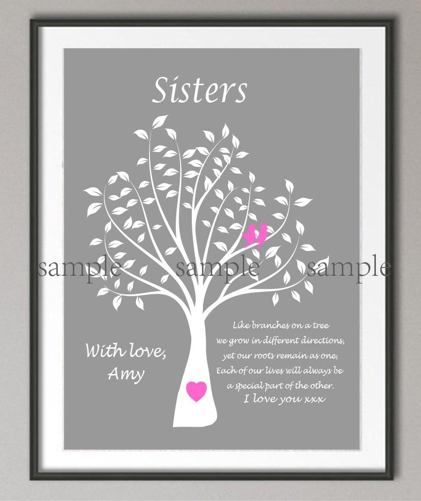 Us 779 40 Offspersonalizowane Maid Of Honor Siostra Prezenty ślubne Drzewo Genealogiczne Cytat Plakat Zdjęcia Z Nadrukiem Na Płótnie Obraz