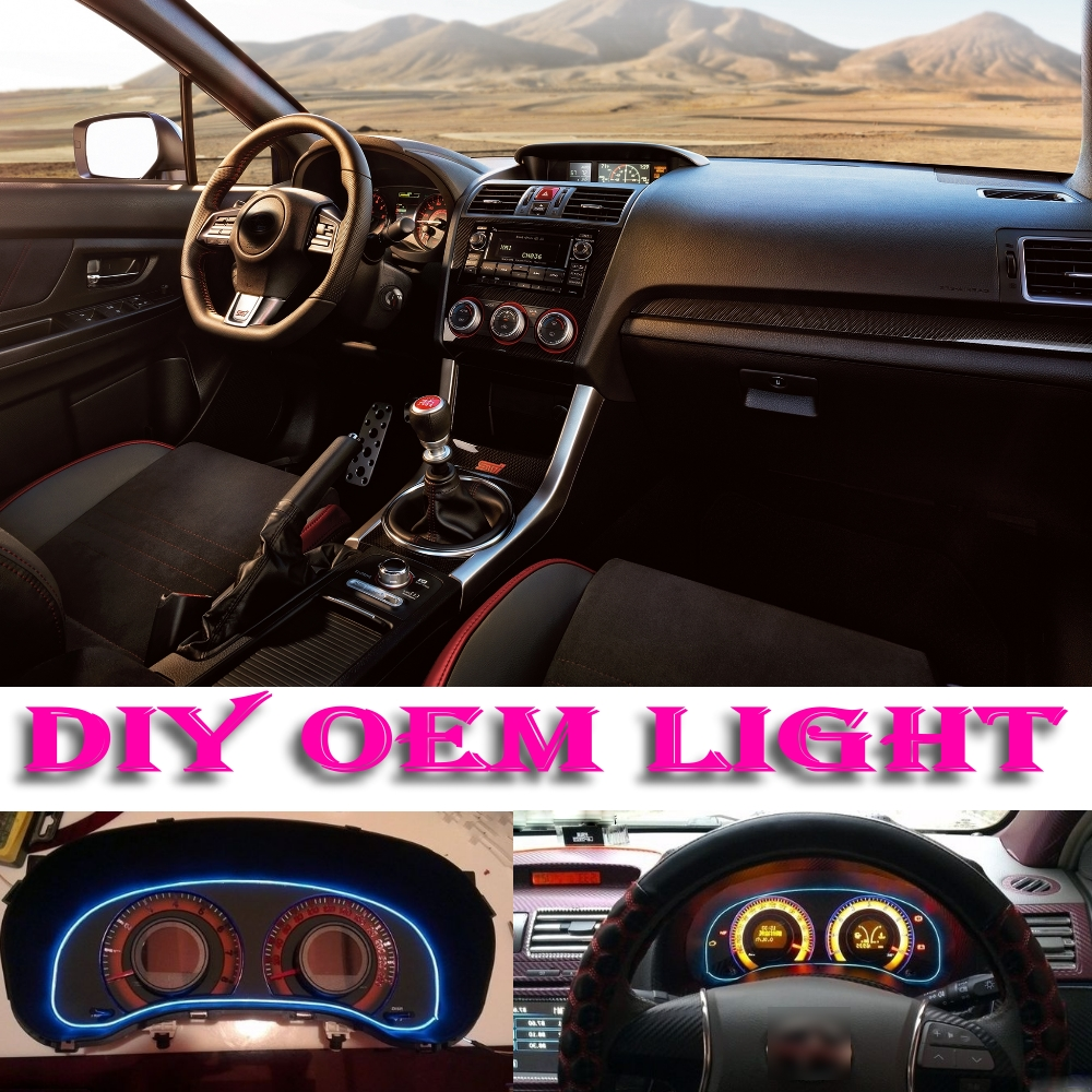car atmosphere light flexible neon light el wire interior light decorative decals inside tuning for subaru impreza wrx sti xv [ 1000 x 1000 Pixel ]