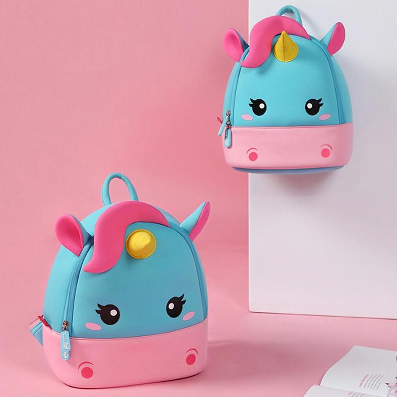 Children School Backpack Kids Cartoon Rainbow Unicorn bag (4)