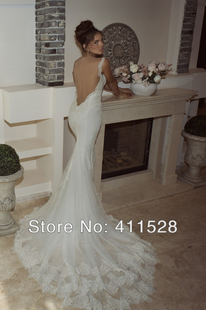 2938ab0a5c New Galia Lahav 2014 abendkleider lace sexy open low back bride ...