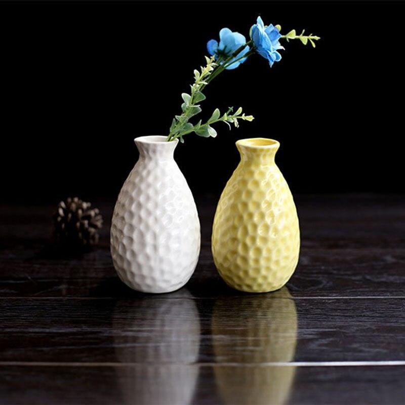 unidades de tamao pequeo sostenedor de la flor encantadora jardinera florero de cermica decoracin del