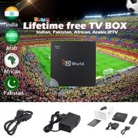HDworld Lifetime free tv box+lifelong lifetime Free IPTV Indian Arabic African Pakistan IPTV 1G8G Linux OS mag tv set top box