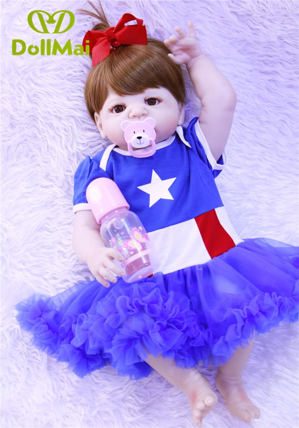 Bebes reborn poupée silicone reborn reborn bébé poupées lol poupée brinquedos boneca reborn cadeau de noël pour fille anniversaire DOLLMAI - 4