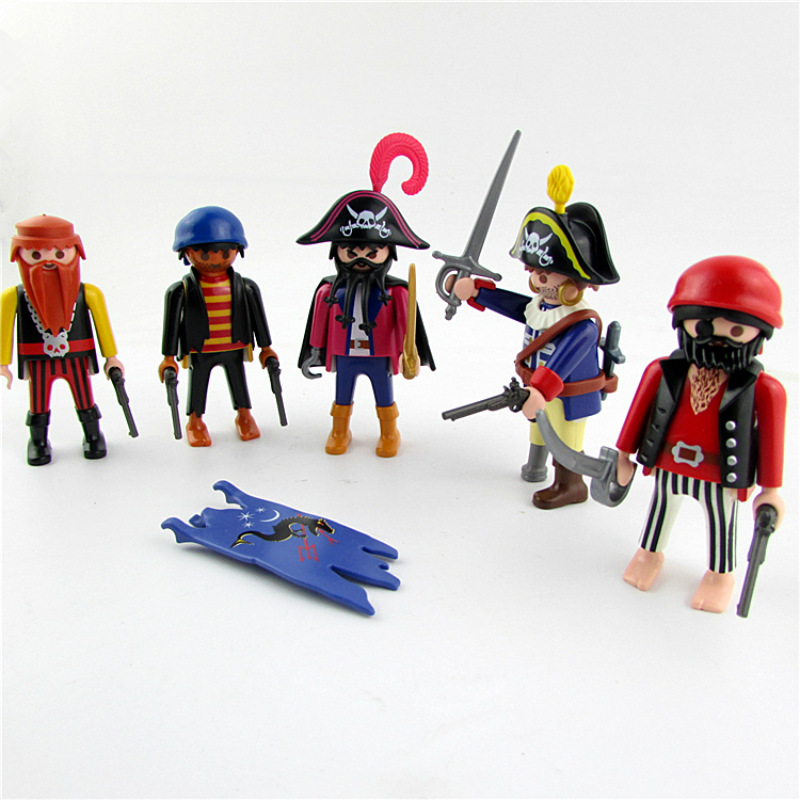 Hot Playmobil Set Pirates Human Figures Action Figures Building Blocks Vinyl Dolls Sets Christmas Gift Toys for Children baon baon ba007emhqz75