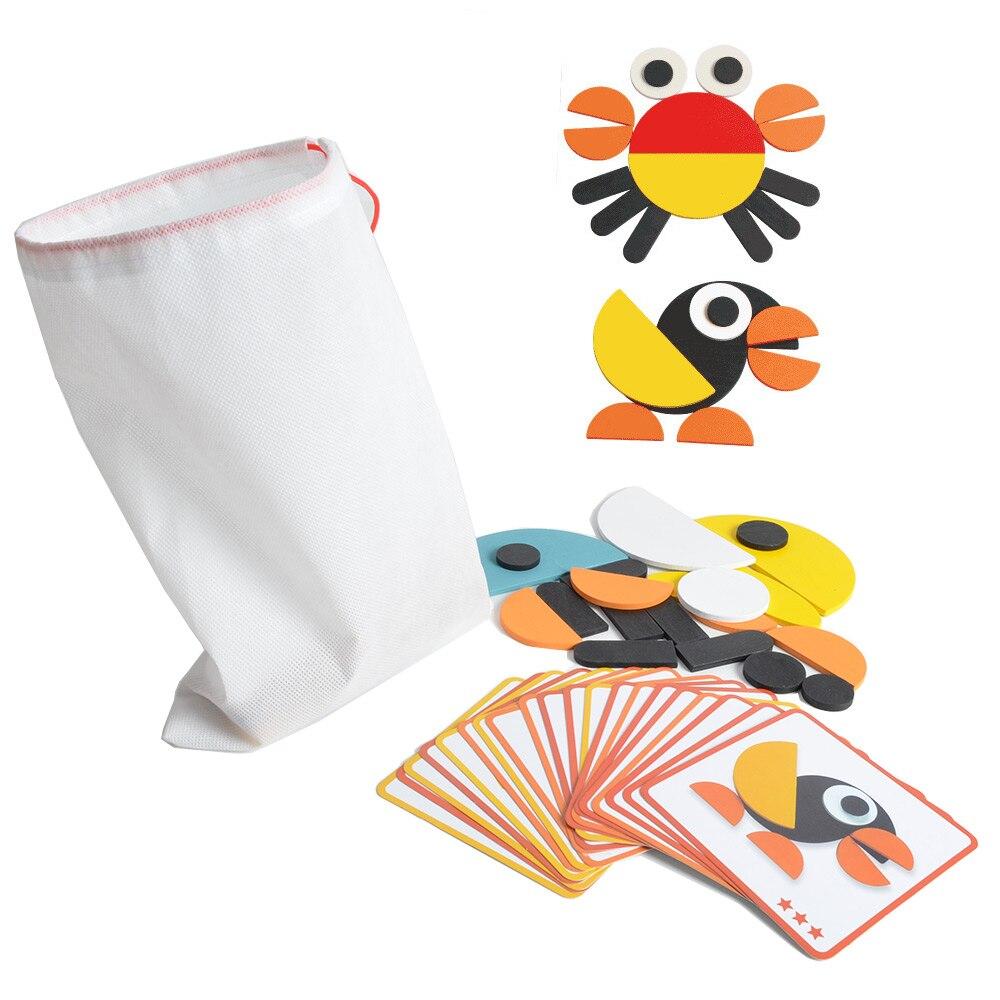 Montessori rompecabezas con Idea tarjetas para niños niño niñas y niños, con la conveniente bolsa