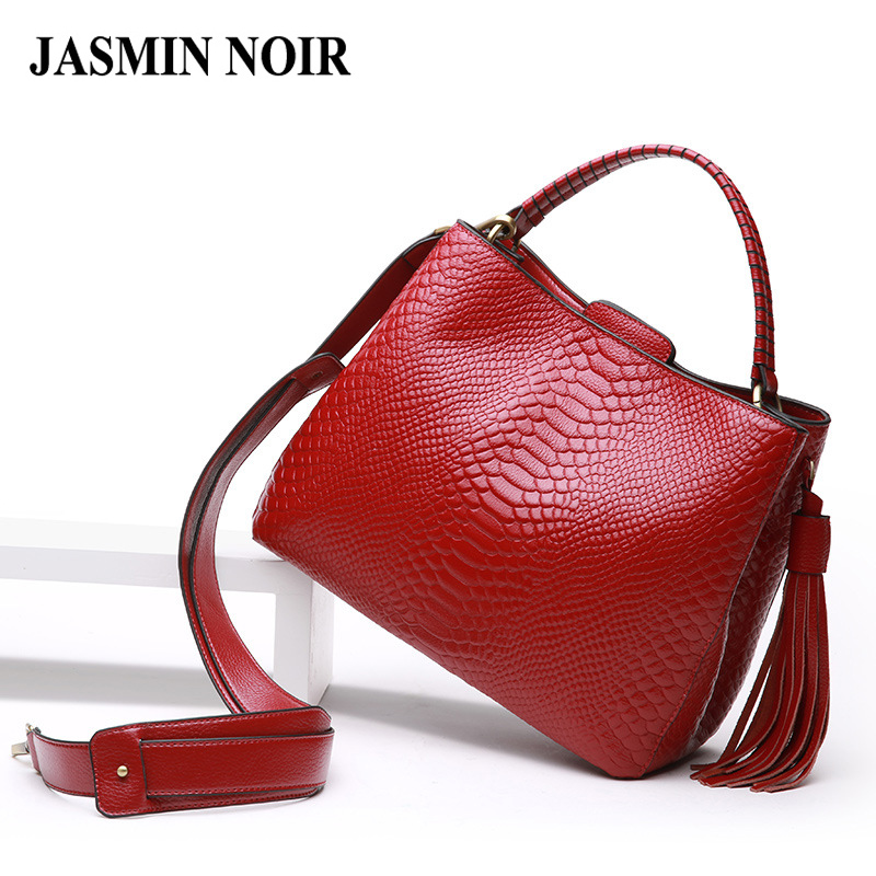 Brand Fashion Women Serpentine Handbag High Quality Genuine Cow Real Leather Ladies Crossbody Tote Bag Large Tassel Shoulder Bag the mountain shadow