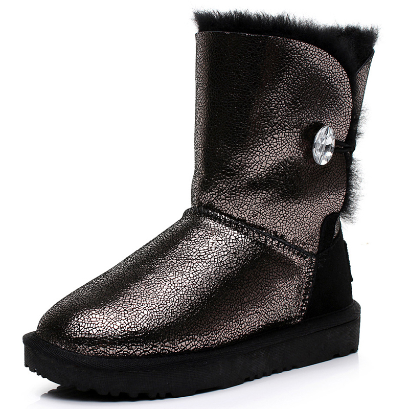 UVWP High Quality waterproof genuine Sheepskin leather snow boots Real Fur 100% Wool women winter snow boots Free Shipping 2016 australia fashion high quality waterproof genuine sheepskin leather snow boots real fur 100% wool women winter snow boots