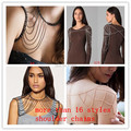 FREE SHIPPING FASHION MULTI-STYLES ALLOY CHAIN DOUBLE SHOULDERS CHAINS BODY CHAINS JEWELRY 19 STYLES 3 COLORS