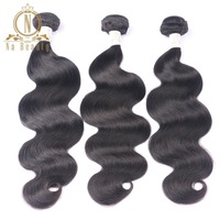 Brazilian Hair 3 Bundles Deal Remy Human Hair Body Wave Hair Weaves Extensions Natural Color Black Weaving Double Weft For Gilrs