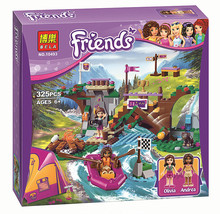 BELA 10493 Friends Adventure Camp Rafting Minifigures Building Blocks Set Model Compatible Legoed Friends Brick Girl Toys 41121
