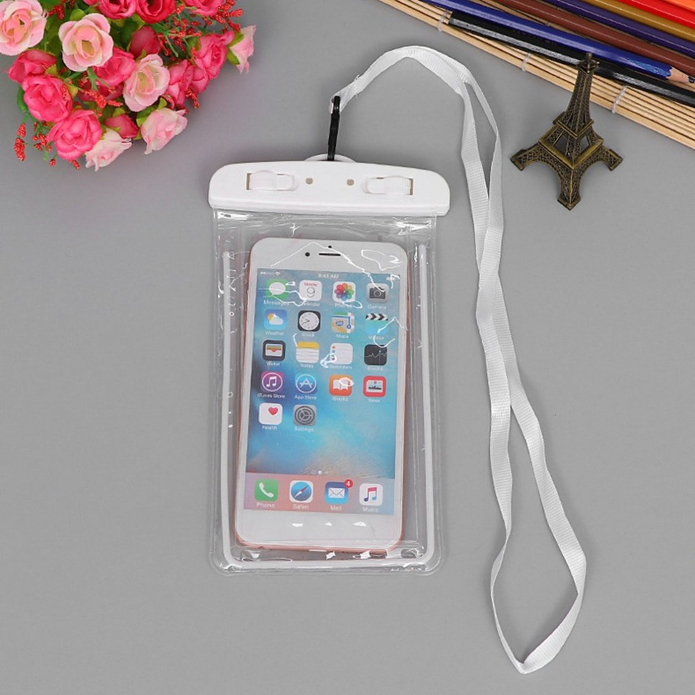 Outdoor Waterproof Phone Bag, Luminous Universal Mobile Phone Case, With Neck Strap, For Swimming Surfing Fishing Boating