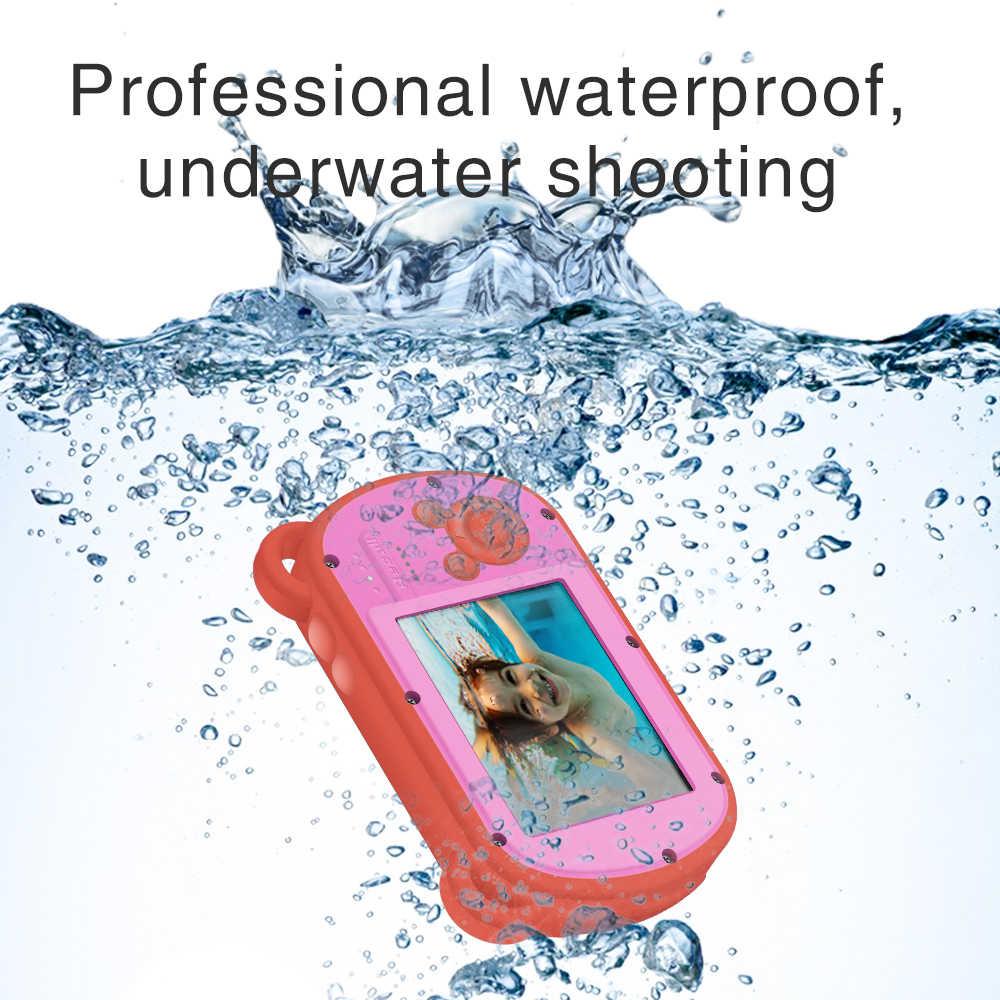 kebidu 2.7inch K6 HD Screen Mini Cartoon Kids Camera Underwater Photo Super Waterproof Anti Shock Digital Camera for Swimming