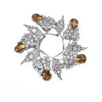 Customization Type rhinestone rose flower Brooch women Wedding bouqeut Bride decoration Corsage lapel pin Brooch