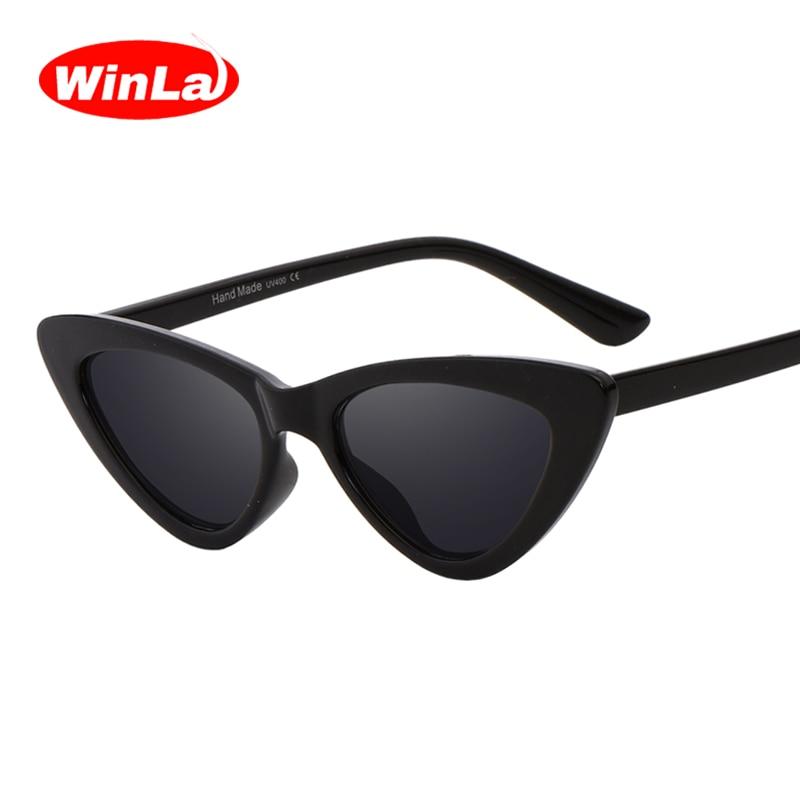 Winla Disegno di Modo Occhio di Gatto Occhiali Da Sole Donne Occhiali Da  Sole A Specchio Lenti Sfumate Retro Gafas Occhiali Oculos de sol UV400  WL1127 143bdfbfc8