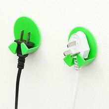 Wholesale 2Pcs Power Plug Socket Jack Hook Rack Holder Hanger Home Wall Decor Organizer