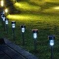 СИД солнечный сад декоративный свет открытый уличный фонарь из нержавеющей стали газон лампы