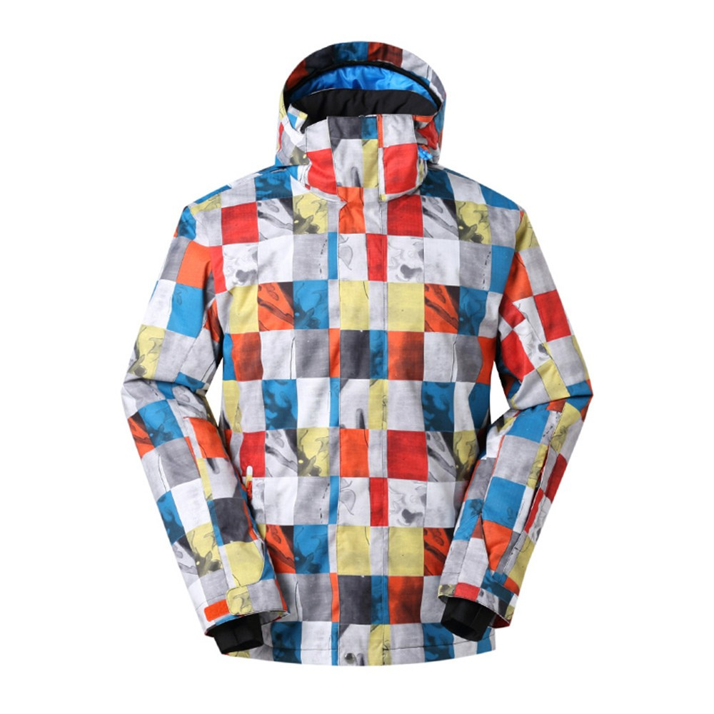 Waterproof Outdoor Mens Sports Jacket Winter Windproof Top Quality Skiwear Breathable Polyester Print Snowboarding Ski Jackets high quality gsousnow fashion women skiwear waterproof windproof breathable outdoor snowboard jacket color matching models 1401