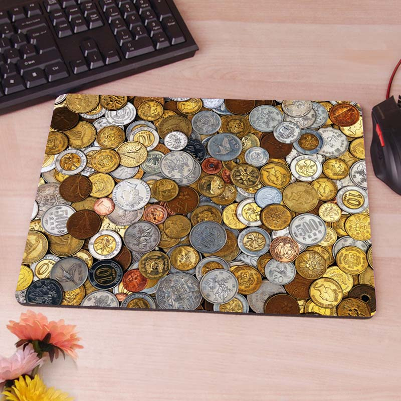 MaiYaCa coins wallpaper New Arrivals Gaming Desk Custom Mousepads Rubber Pad ...