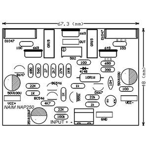 Image 5 - חדש 2 pc NAIM NAP250 MOD סטריאו אודיו מגבר לוח Amplificador אודיו 80 w DIY ערכות/סיים DC15V 40V A5 013