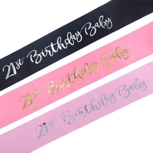 21st Birthday Baby Sash 21 Year Old Finally For Women Girls Party Decoration Supplies Favor Gifts